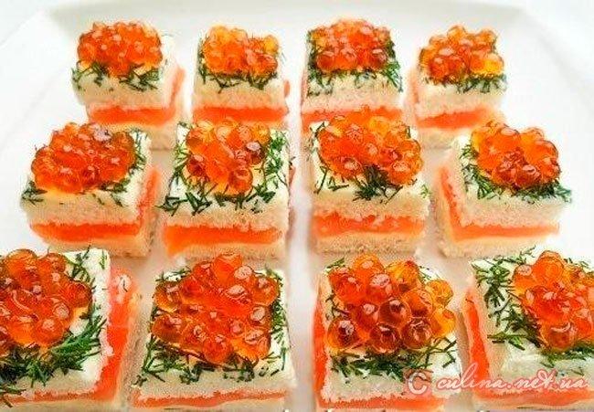 Вкусные рецепты салатов и закусок бутерброды с фото