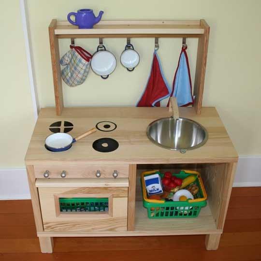 Детская кухня своими руками очень простая конструкция 14