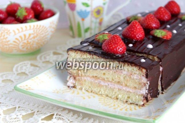 Торт пошаговое с клубникой рецепт