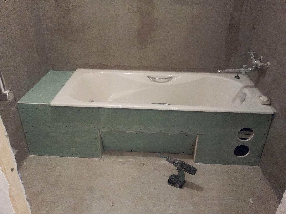 Как сделать каркас для ванны 651