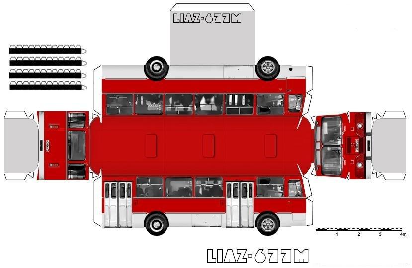 Открытка своими руками автобус 9