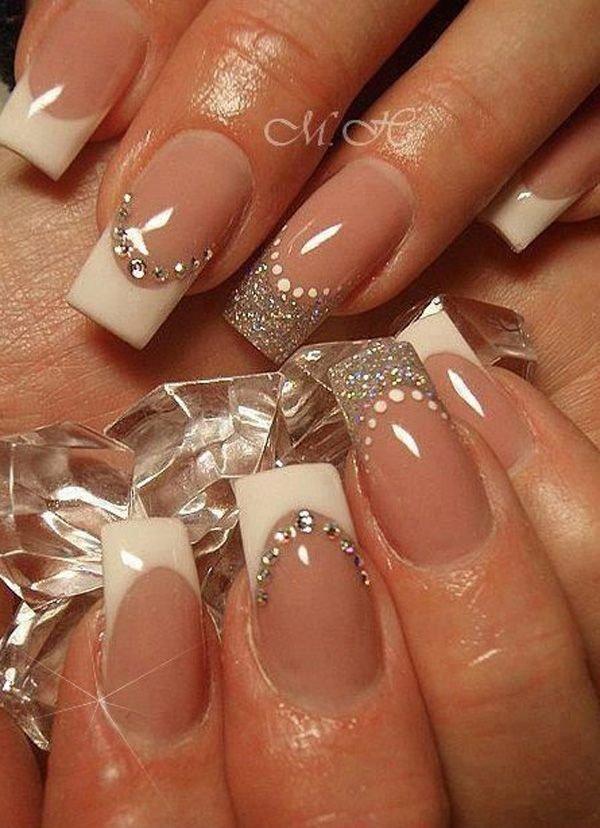 Идеи наращивания ногтей френч