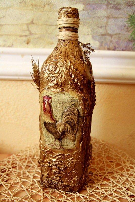 Фото декупаж бутылки мастер класс 85