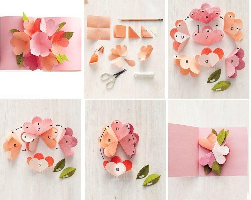 Подарок на день рождения цветы из бумаги