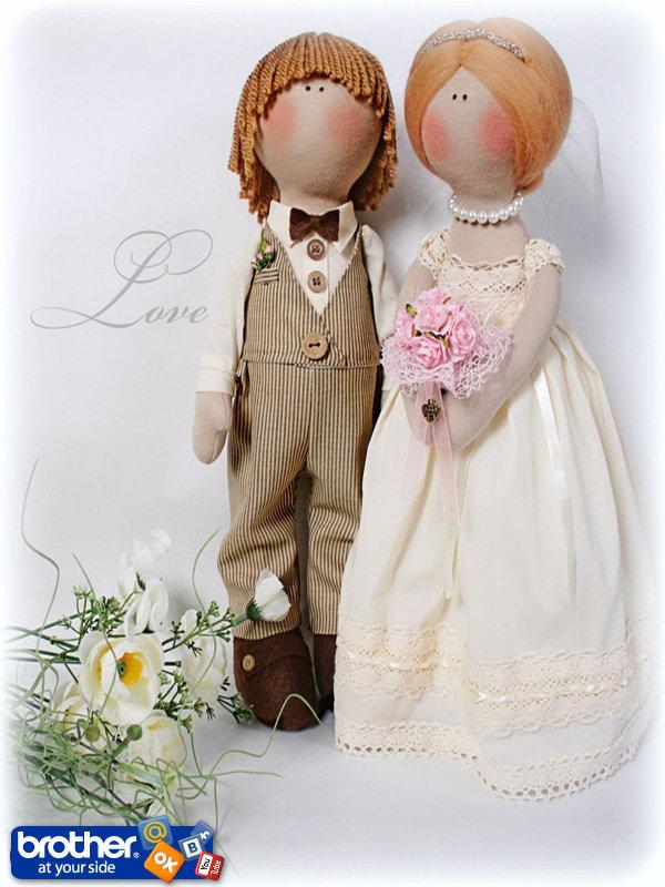 Своими руками невеста и жених кукла сшить 54