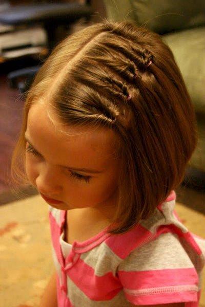 Детские прически для девочек легкие на короткие волосы
