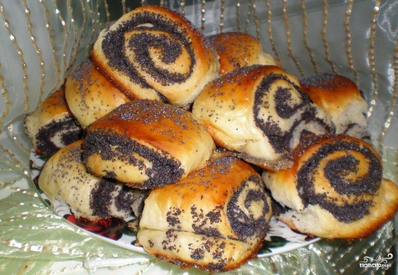 Рецепт булочек с маком из дрожжевого теста в духовке рецепт с пошагово