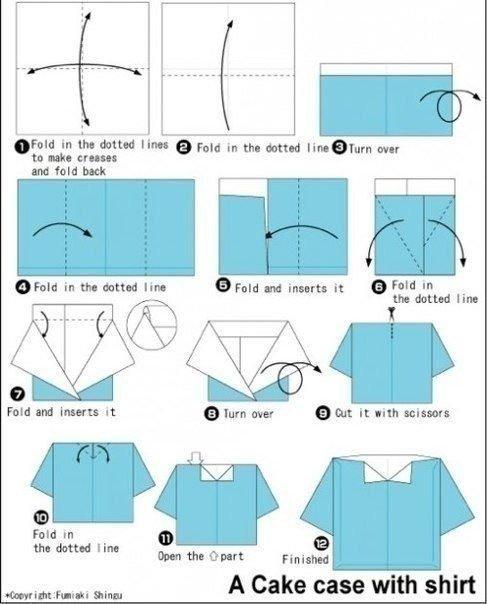 Открытки в виде рубашек с галстуками