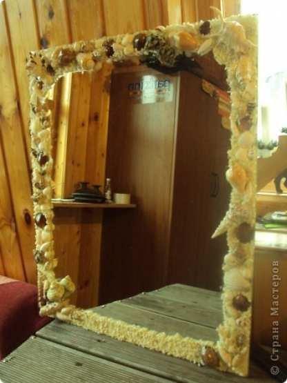 Чем украсить зеркало в шкафу своими руками