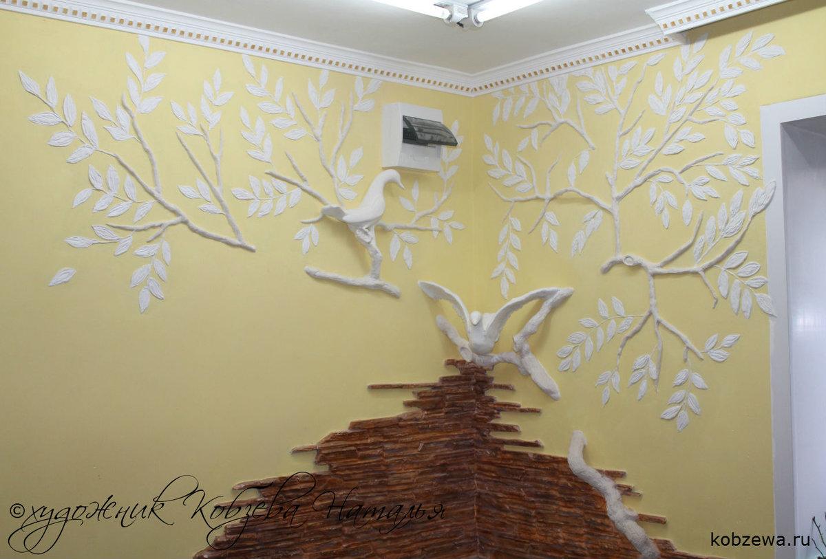 Как самим сделать лепнину на стене