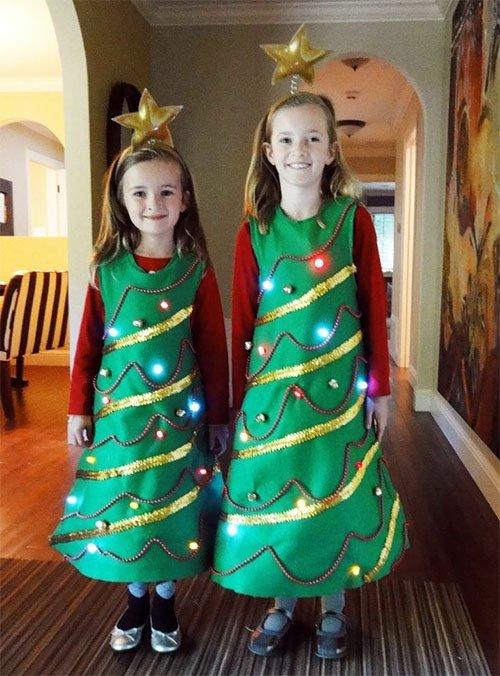 Новогодний костюм для девочек своими руками фото 982