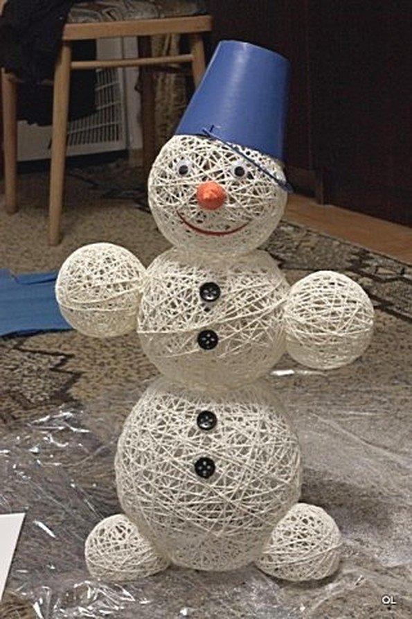 Своими руками как сделать снеговика