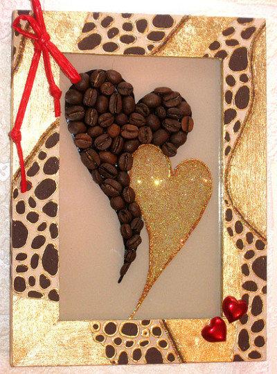 Картинки сделаны своими руками из кофе 100