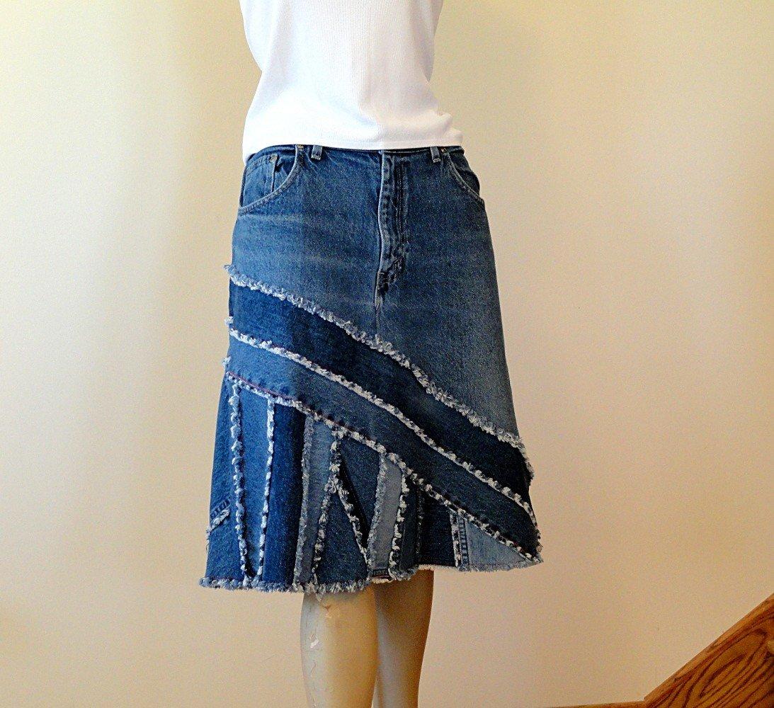 178Как сшить юбку из джинс фото