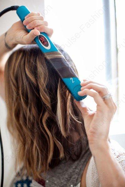 Как сделать лёгкие волны на волосах каре
