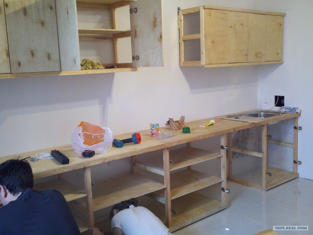 Кухонный гарнитур фото своими руками 84