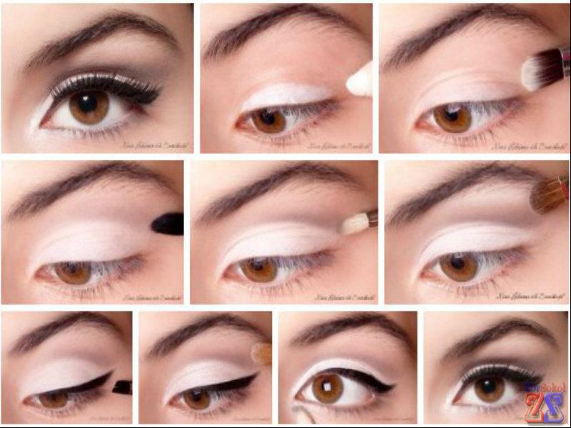 Как одним карандашом для глаз сделать макияж 643