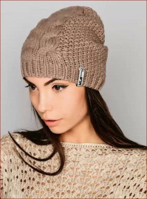Вязание спицами модные шапки
