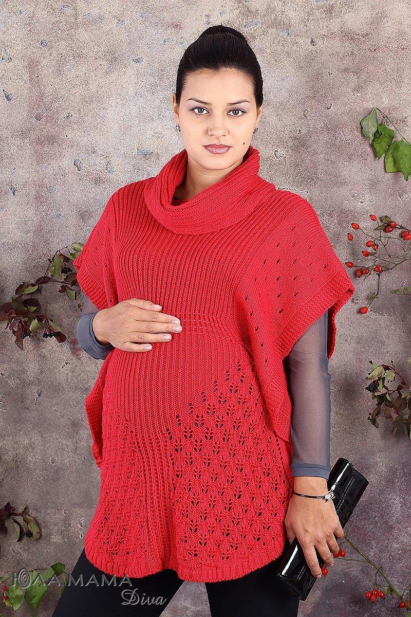 Вязанные туника для беременных 62