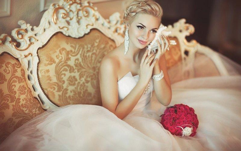 Фото девушка свадебном платье