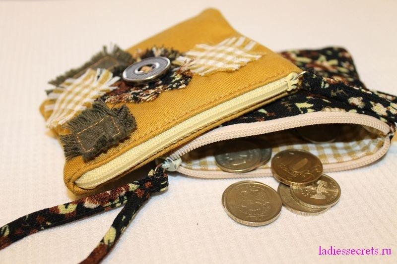 Сшить кошелёк для мелочи 2