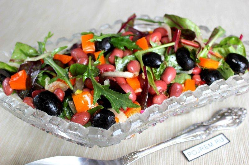 Рецепт салата с фасолью и перцем