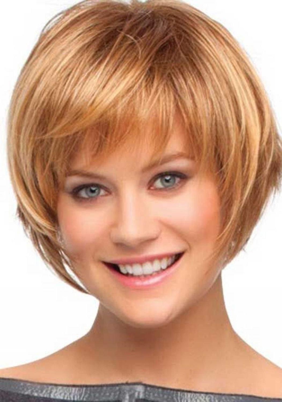 Красивые короткие стрижки для женщин с круглым лицом