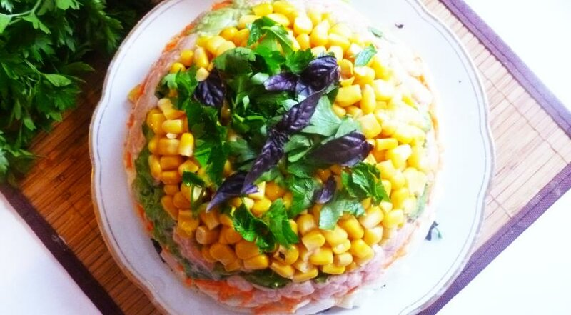 Салат слоеный овощной рецепт с