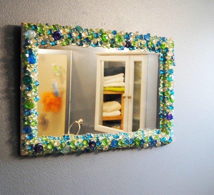Декор настенных зеркал своими руками 86