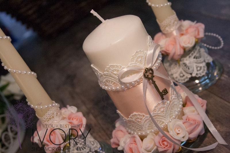 Декорируем свечу на свадьбу