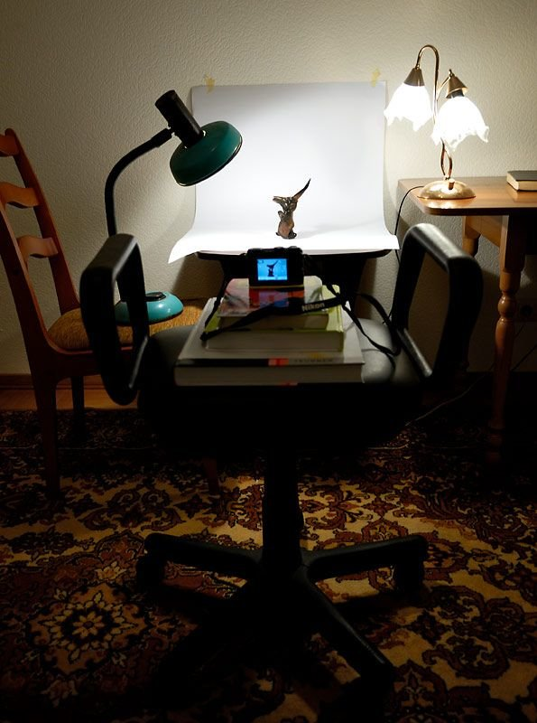 Предметная съемка в домашних условиях с помощью ноутбука