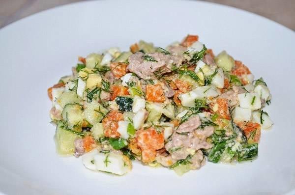 Приготовление салатов на скорую руку с