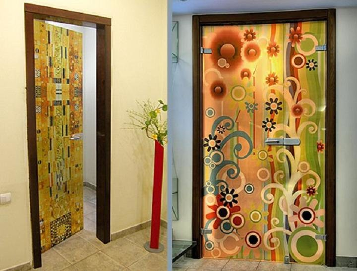 Как украсит дверь своими руками 812