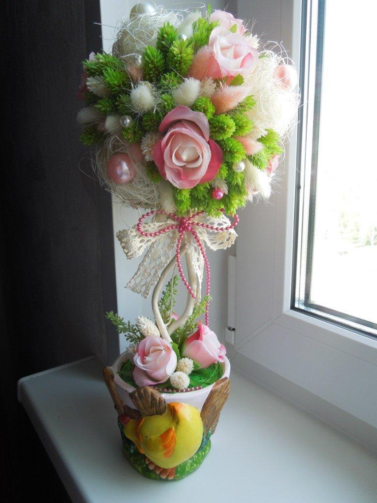 Фото топиария с цветами