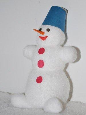Сделать своими руками снеговика из ваты своими руками