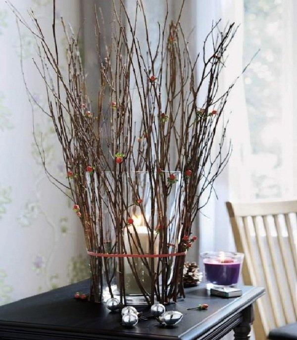 Декор из веток деревьев своими руками 674