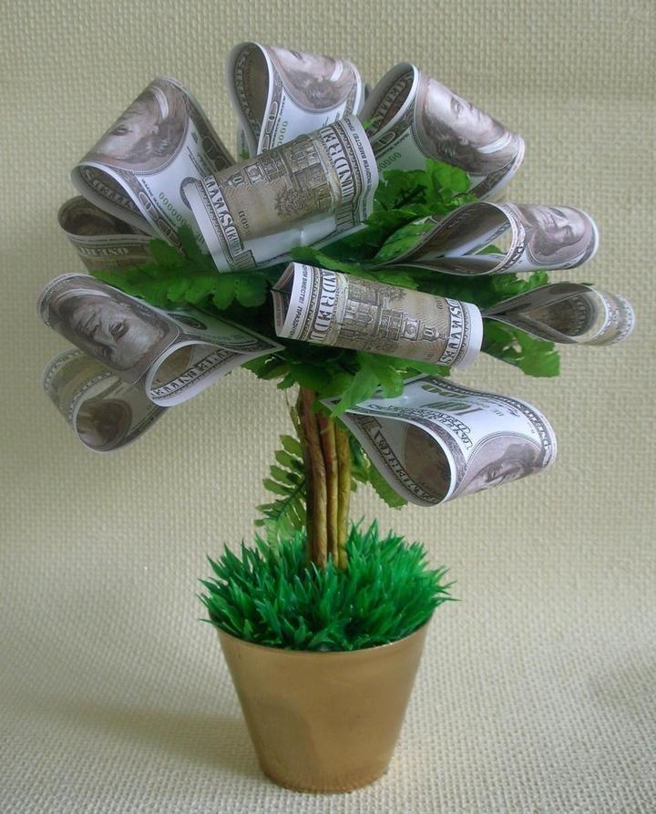 Дерево с деньгами как сделать