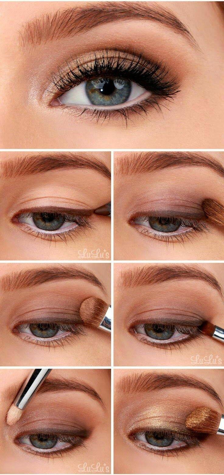 Фото макияжа для серых глаз легкий