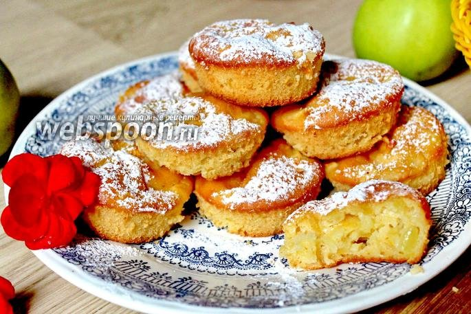 Маффины с яблоками рецепт с фото пошагово в духовке