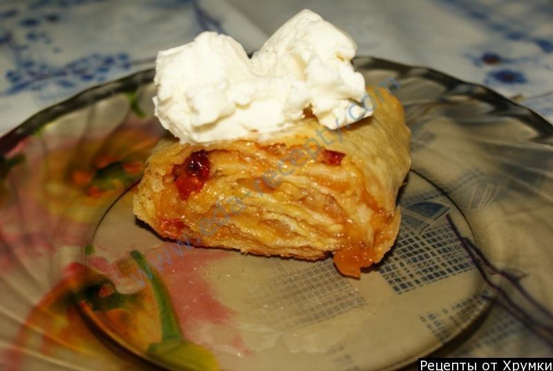 Пошаговый рецепт яблочного штруделя