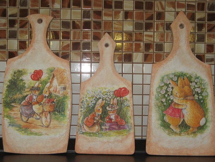 Как украсит разделочные доски своими руками