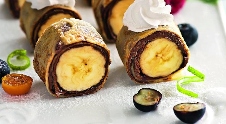 Роллы бананами рецепт 168