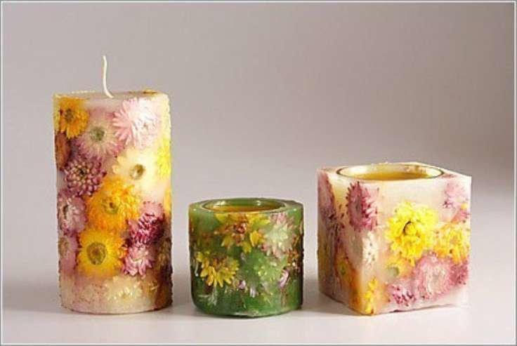 Декорирование свечей в домашних условиях