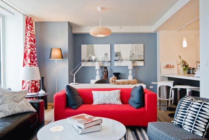 Дизайн однокомнатной квартиры в стиле икеа 2