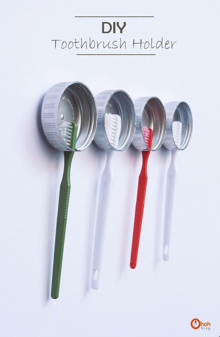 Держатель для зубной щетки своими руками