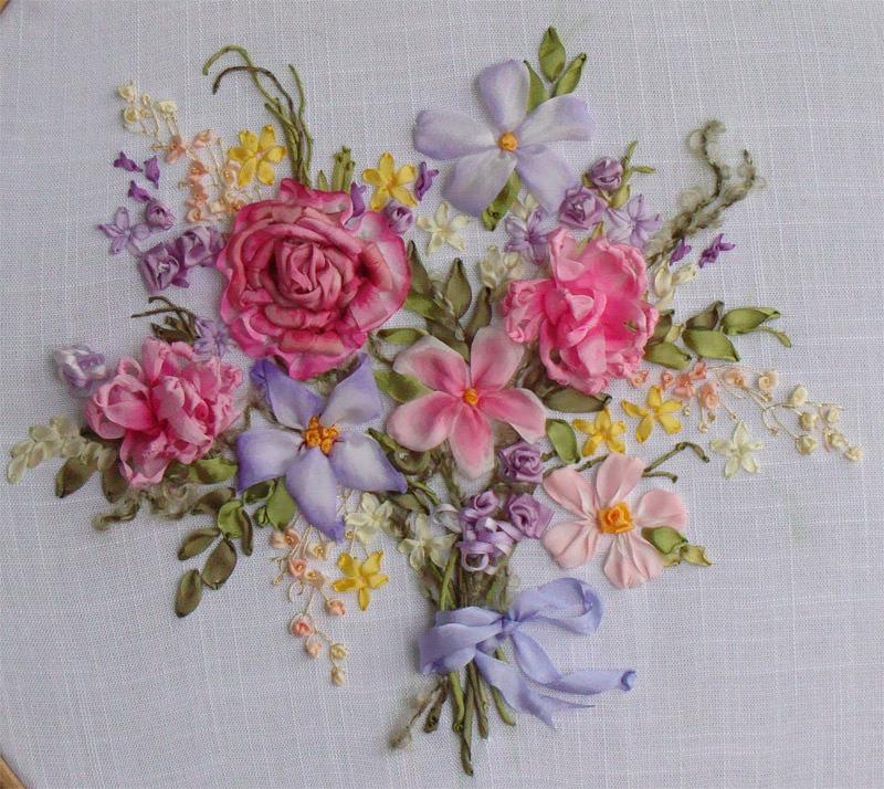 Вышивка лентами картинки цветы 88