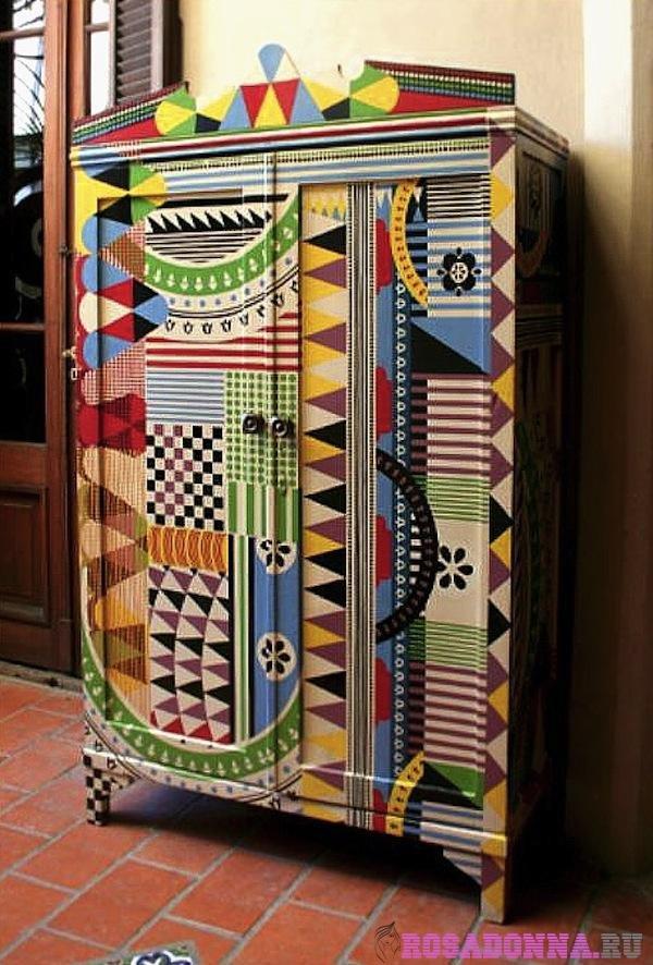 Как украсить старый шкаф своими руками в домашних условиях 715