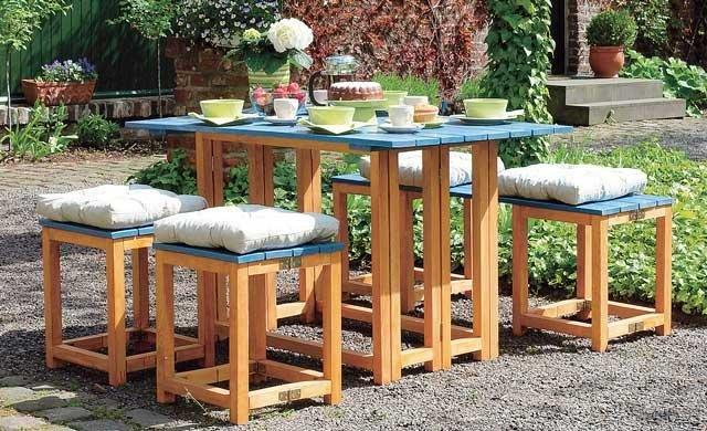 Садовая разборная мебель своими руками
