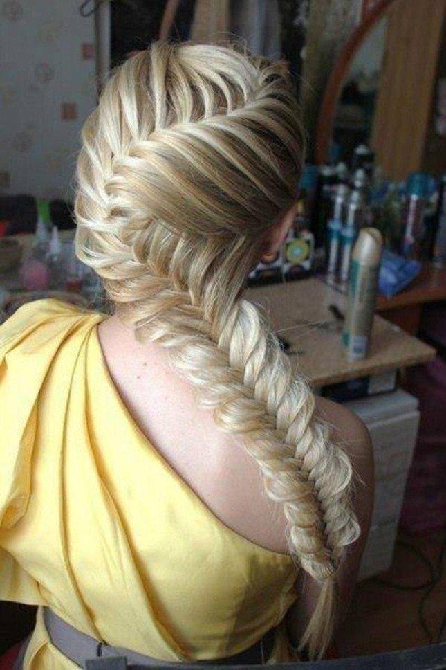 Красивые причёски плетение на длинные волосы
