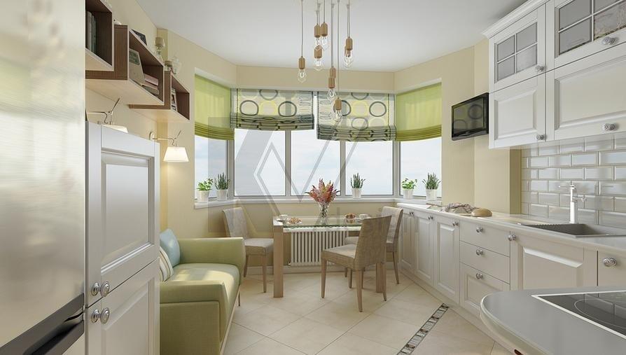 Дизайн кухни 13 кв.м п44т